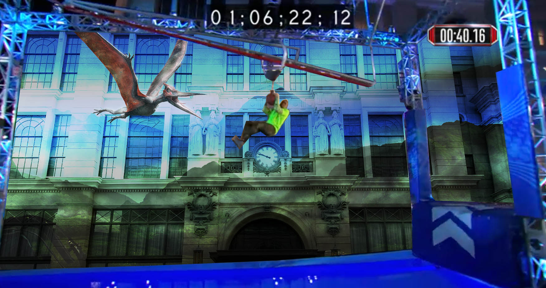 Architectural Projection Mapping for Movie Promotion