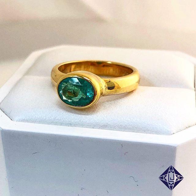 Custom made Emerald bezel-style ring! #LiebrossJewelry