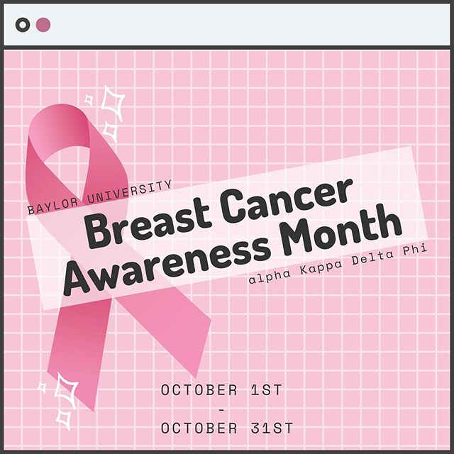 . ~it's BCA month~ . . . 💗September has ended and it's officially time for autumn! 🍁 You know what that means? Breast Cancer Awareness month is here! 🎀 Be on the look out for our campaigns for BCA and build awareness with aKDPhi! ✨💗 . #akdphi #sisters #whyakdphi #bca #breastcancer