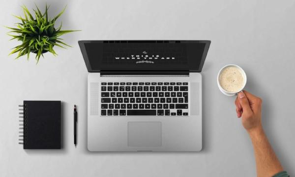 Laptop Man (Public domain)