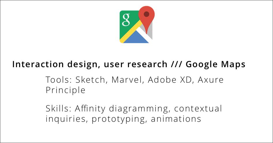 Redesigning Google Maps Explore // Jan 2017 - Present