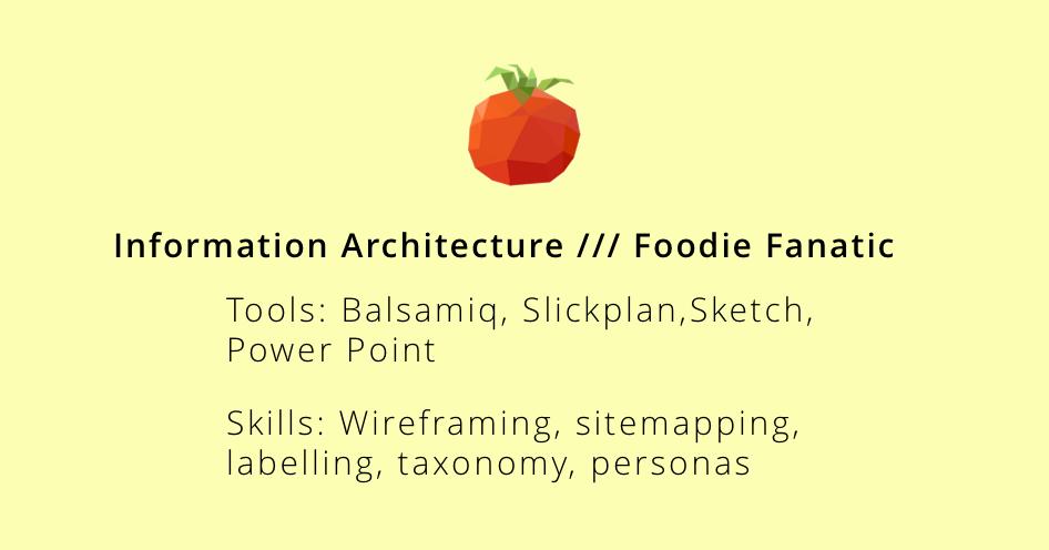 Information Architecture // Jan 2018 - Mar 2018