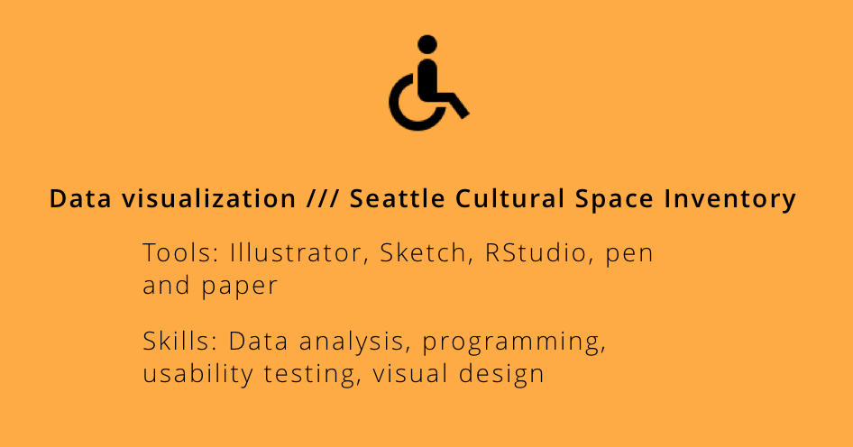 Visualizing Disabled-friendly Cultural Spaces in Seattle // Jan - Mar 2018