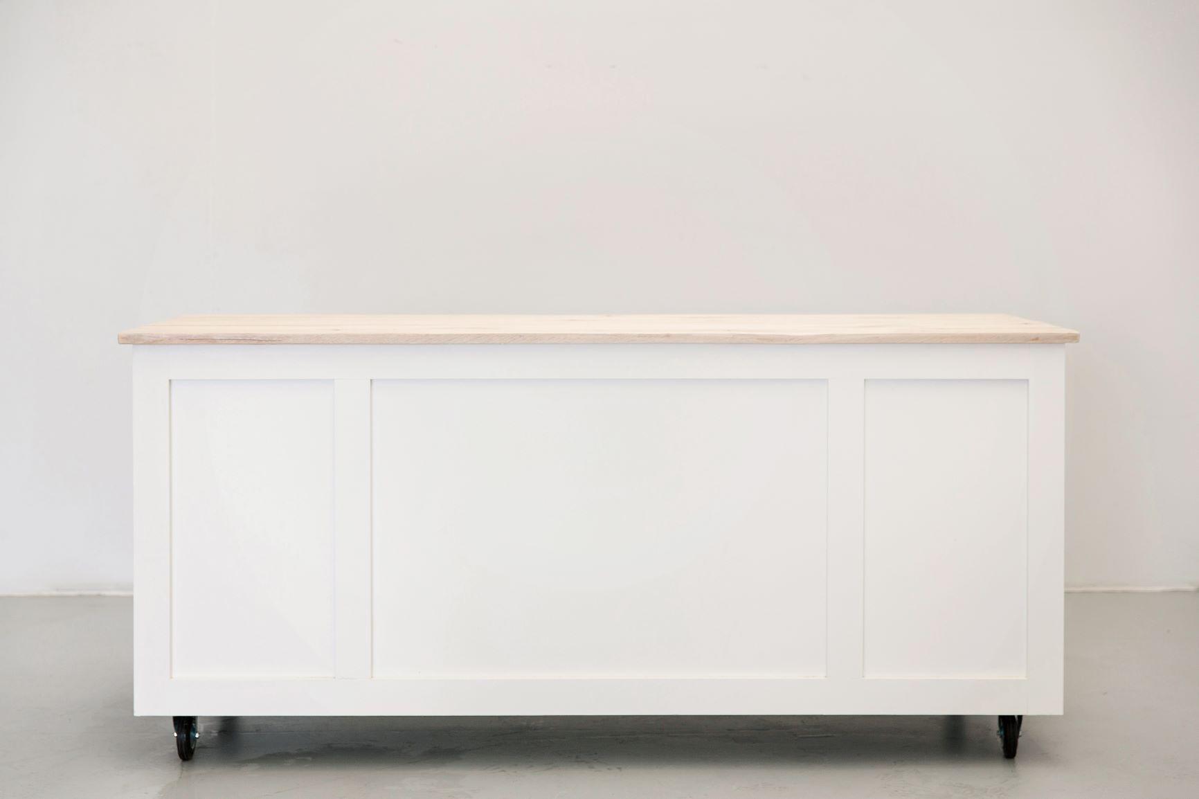 white panelled bar