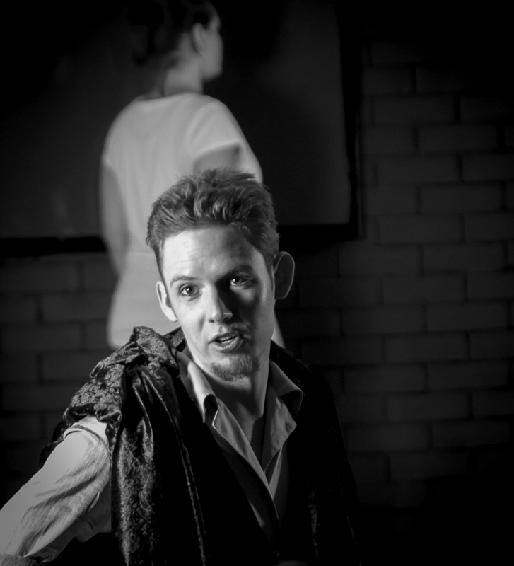 Pictured: Joker (Callum Pulsford) in Mediocrity (Everything You've Ever Wanted), 23 May 2015. Picture credit: Geoff Lawrence