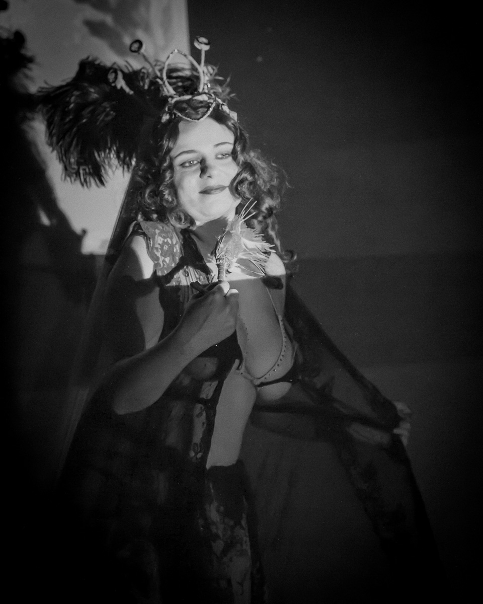 Pictured  : Lola the Vamp,in   The Poor Slob & The Good Fairy ,   May 2015.Picture Credit: Geoff Lawrence .