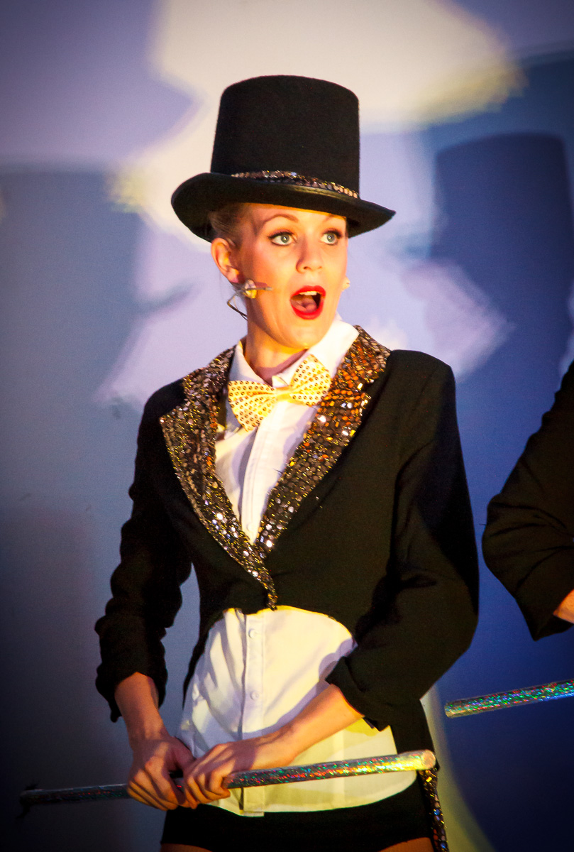 Pictured: Jenny Usher (Director/Choreographer/Performer), in Top Hat n'Tails, at   The Jazz Age Dance Cabaret  . Picture credit:    Geoff Lawrence .
