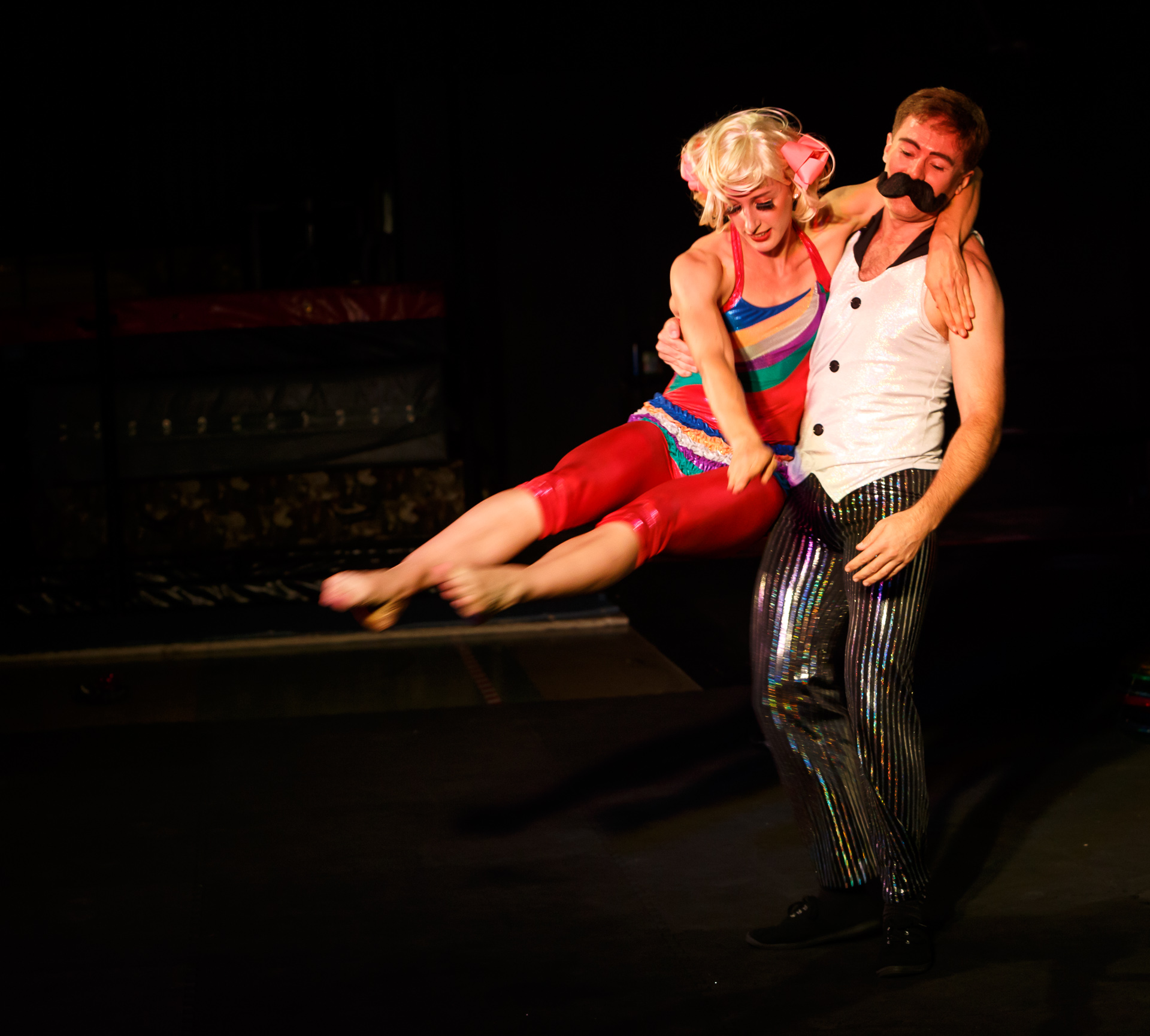 Pictured (Lto R): Circus Clare (Claire Ogden), and Boris (Shane Smith). Picture Credit: Geoff Lawrence, Creative Futures Photography.