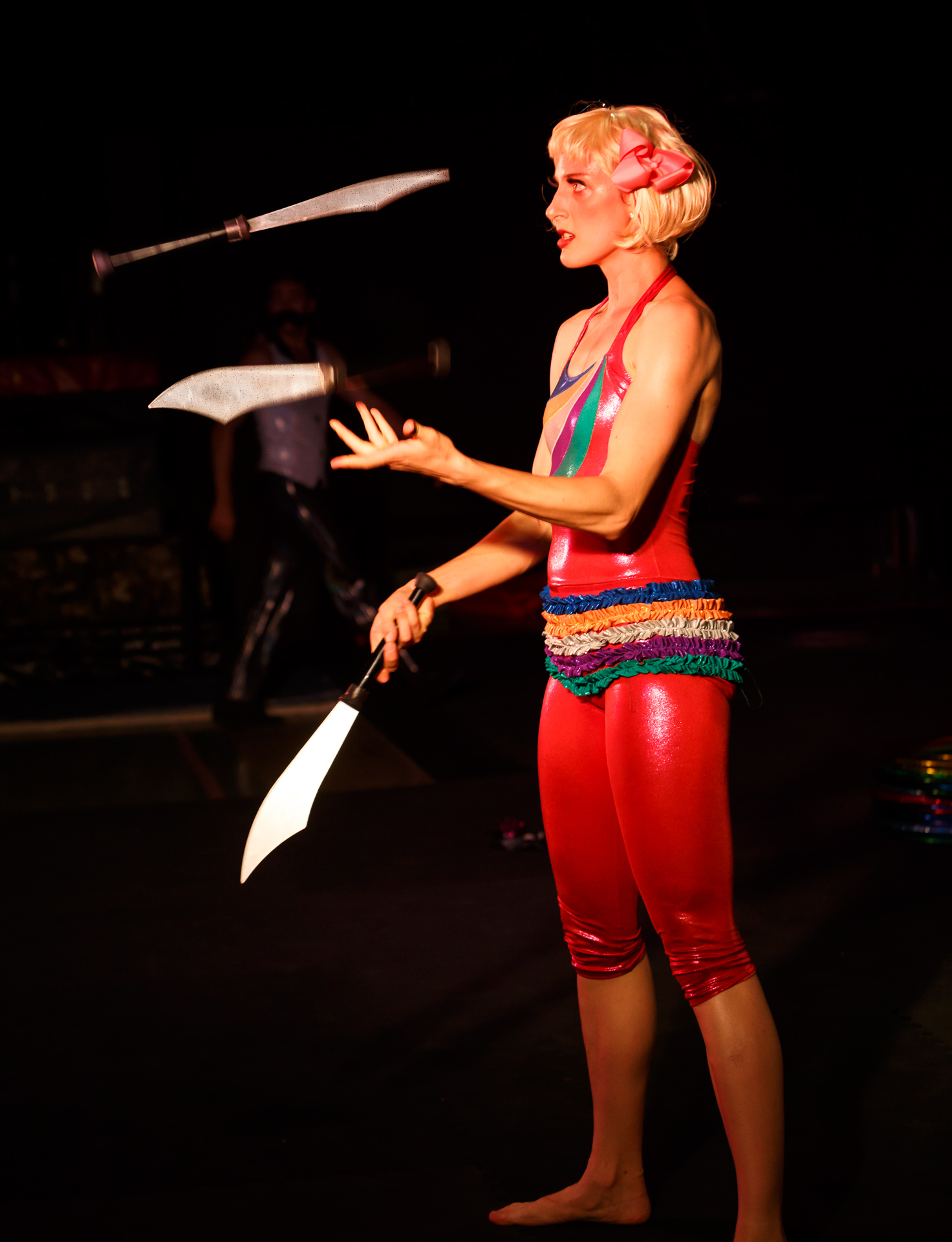Pictured: A juggling Circus Clare (Claire Ogden). Picture Credit: Geoff Lawrence, Creative Futures Photography.