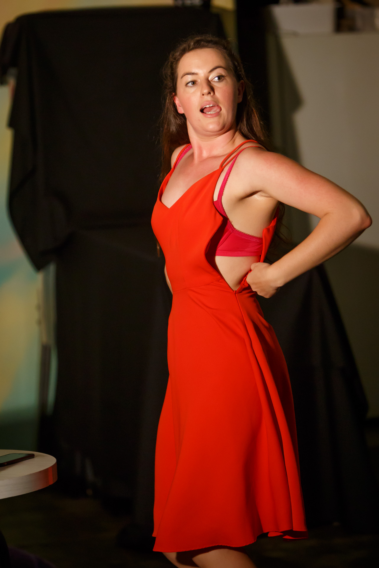 Picture: Sarah Clarke (in Semi Charmed). Photo Credit: Geoff Lawrence, Creative Futures Photography.