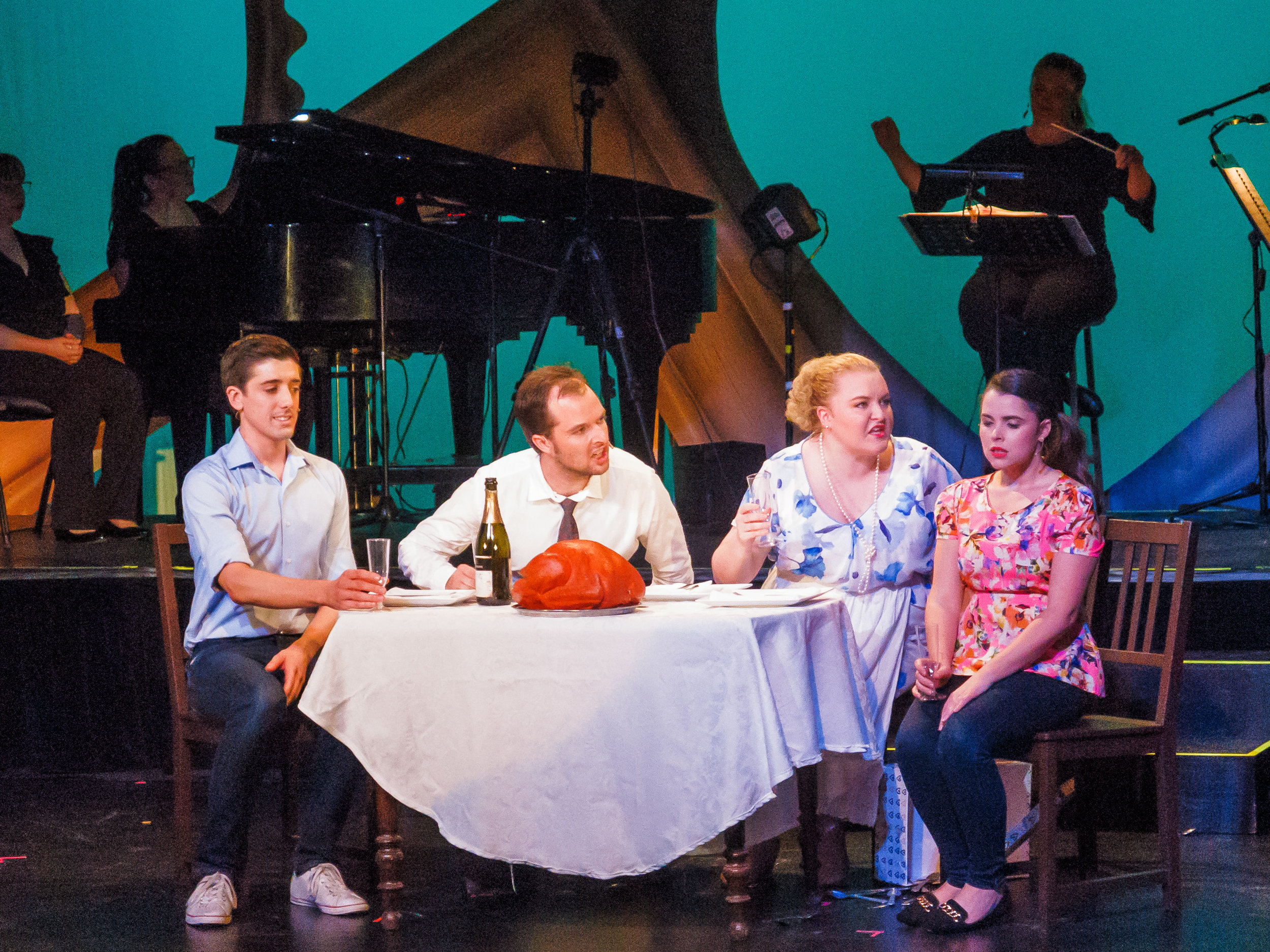 Picture:  Hey There Single Gal/Guy ( full cast Julie Eisentrager, Mufaro Maringe, Nadia Vanek, Kate Doohan, Nick Ferguson, Jenna Saini, Jack Treby, and Joshua Thia). Picture credit: Geoff lawrence, Creative Futures Photography
