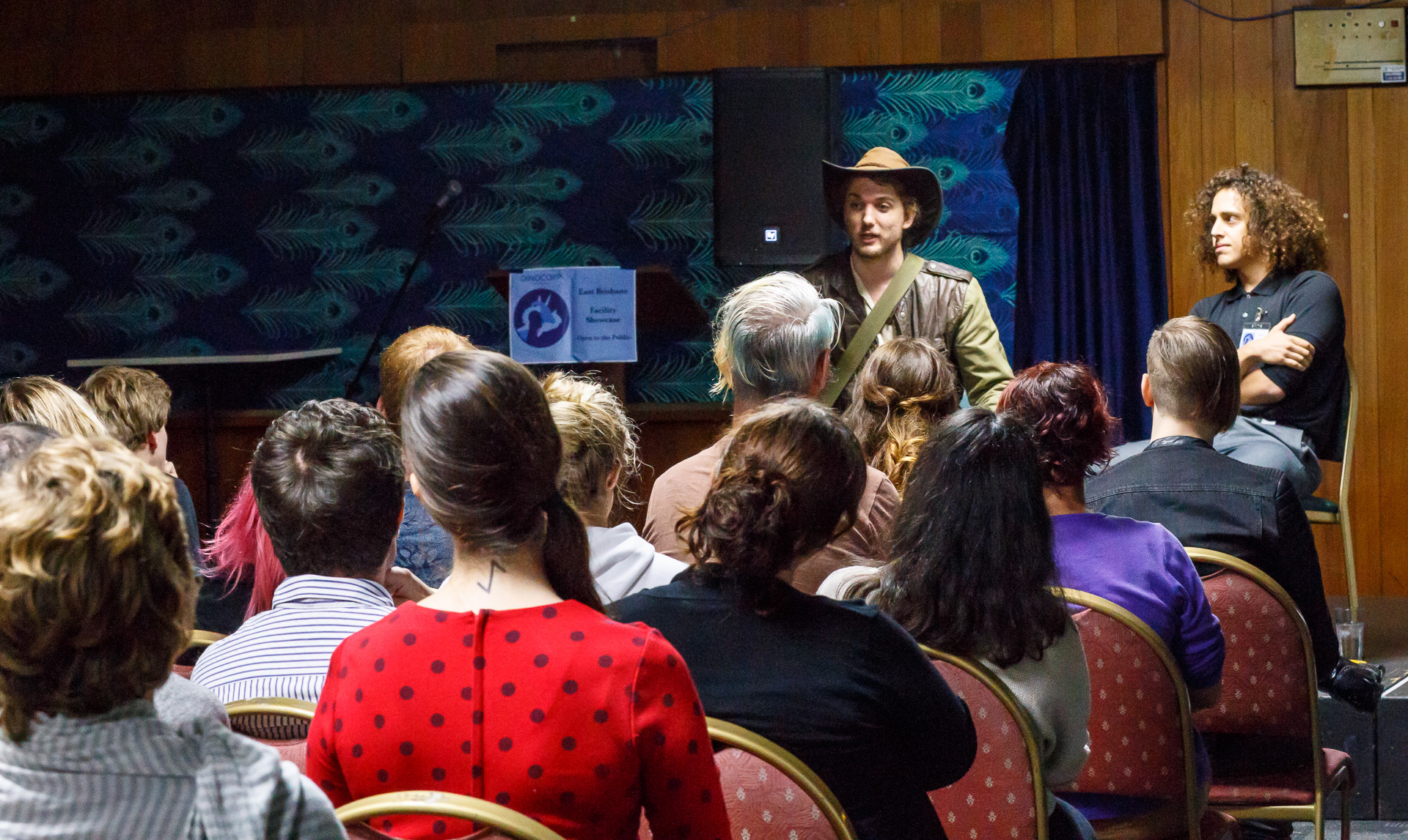 Pictured : Audience interaction at  Dinopocalypse. Picture credit: Geoff Lawrence, Creative Futures Photography