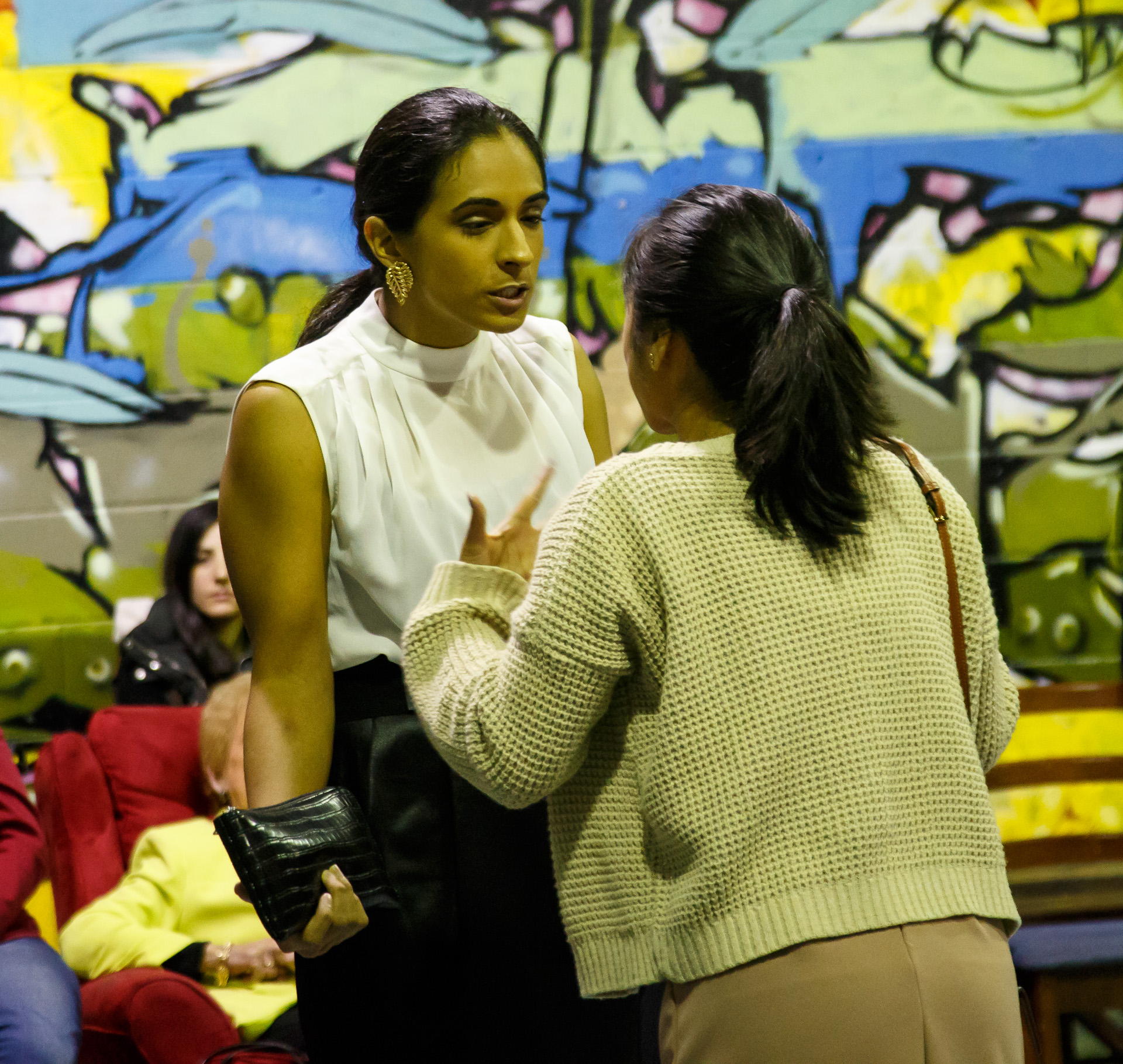 Pictured (L to R): Tahira Appadoo (Vera) and Yasmin Larasati (Rose) . Picture credit: Geoff Lawrence, Creative Futures Photography.