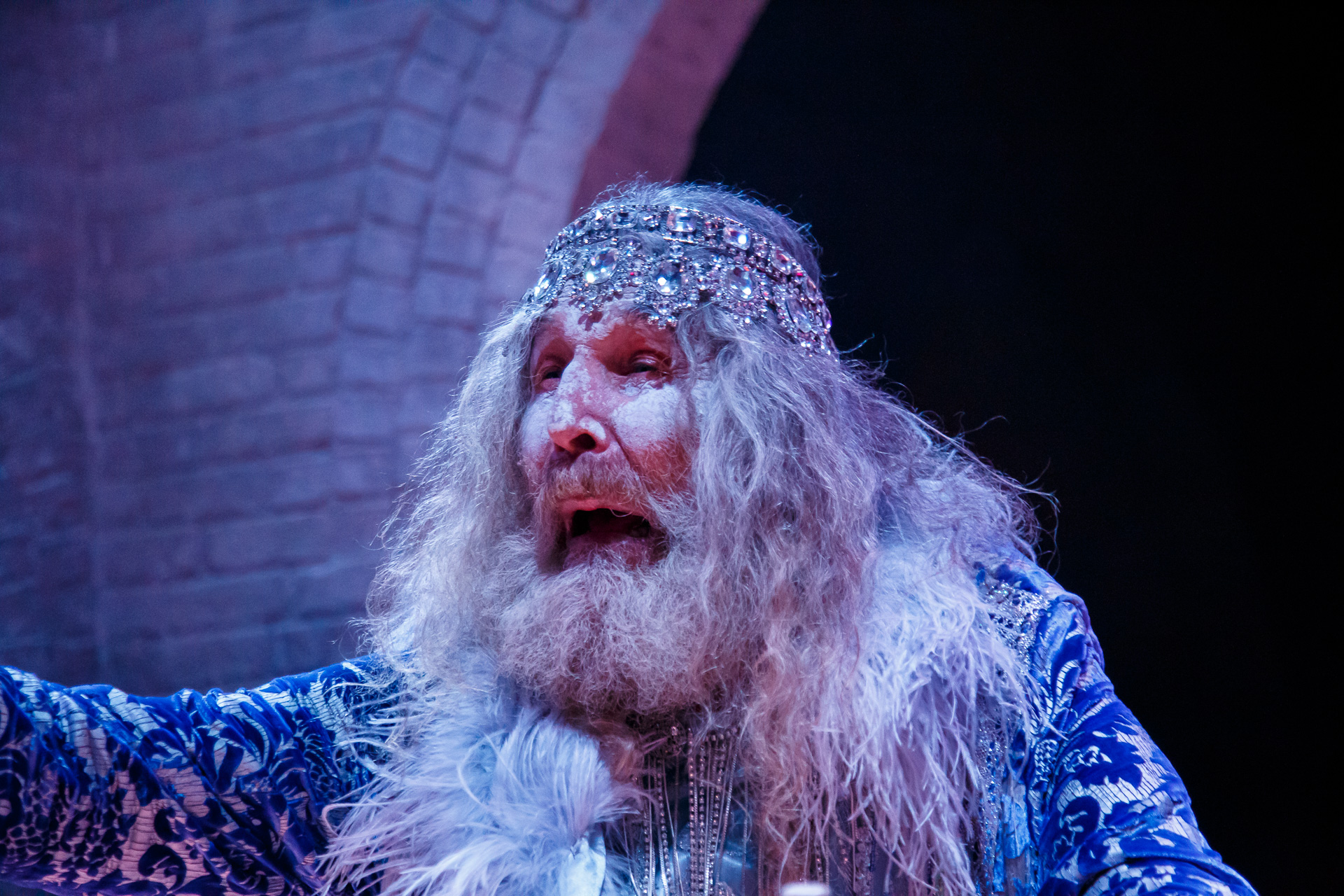 Picture: A powerful performance by Warwick Comber (Blue Mage).  Picture credit: Creative Futures Photography.