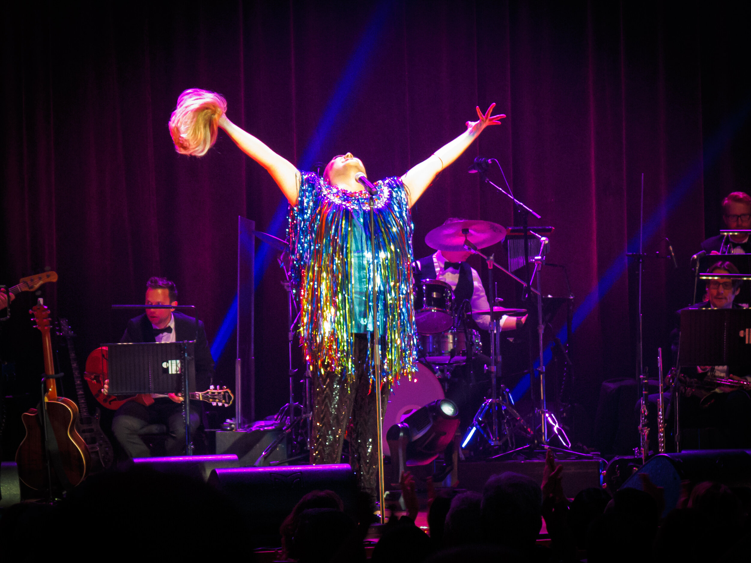 "Picture: Trevor Ashley's Gloria Gaynor ""I am what I am"" encore. Picture credit: Creative Futures Photography"