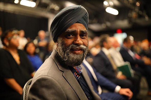 Canada's Minister of National Defence Harjit Sajjan portrait.  #portrait #journalism #photojournalism #heremagazine #heremagazinecanada #photography