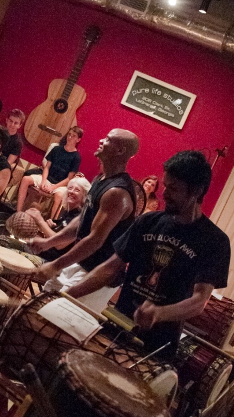 Ten Blocks Away - West African Drumming.