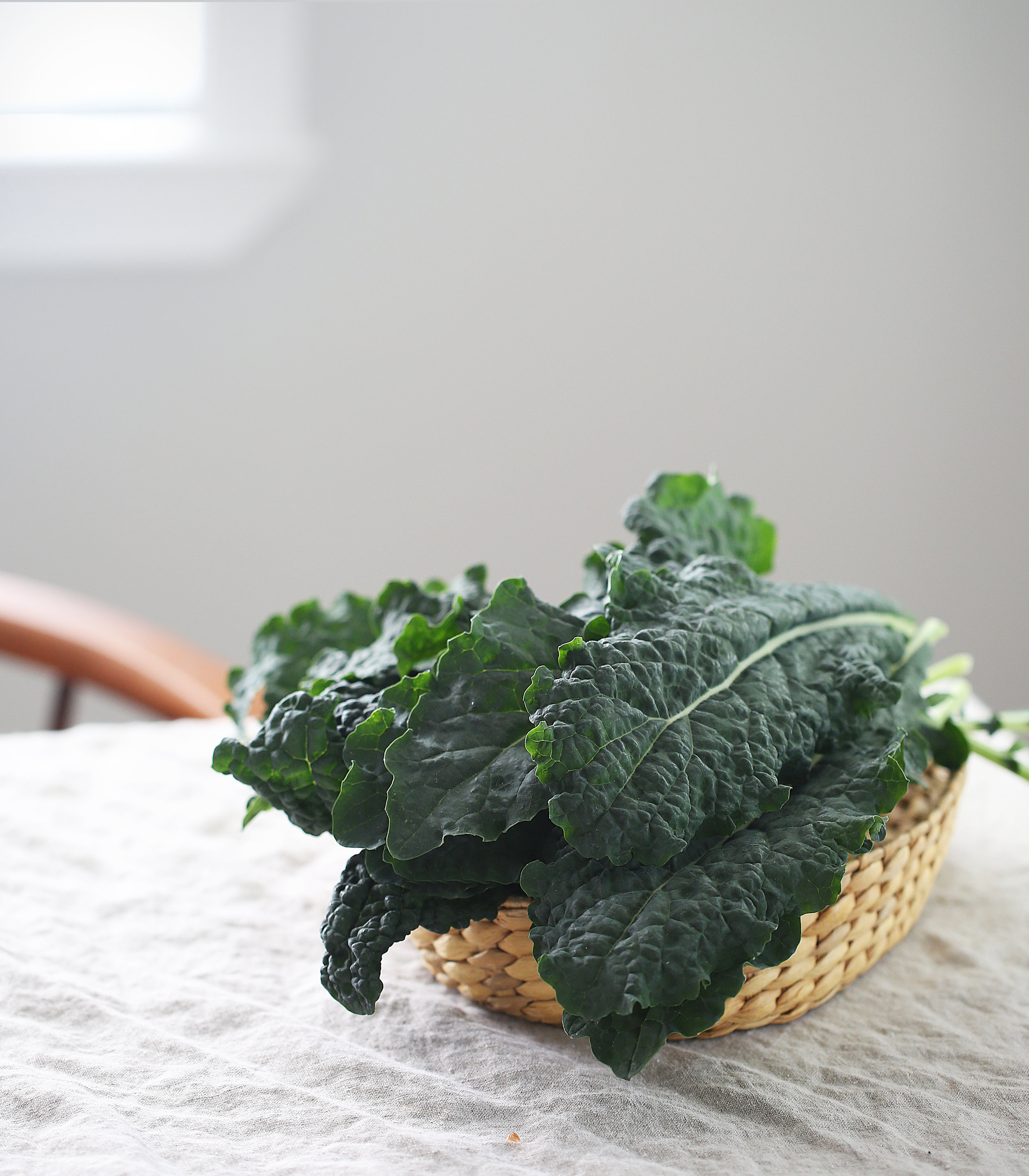 Kale photographed for social media campaign.