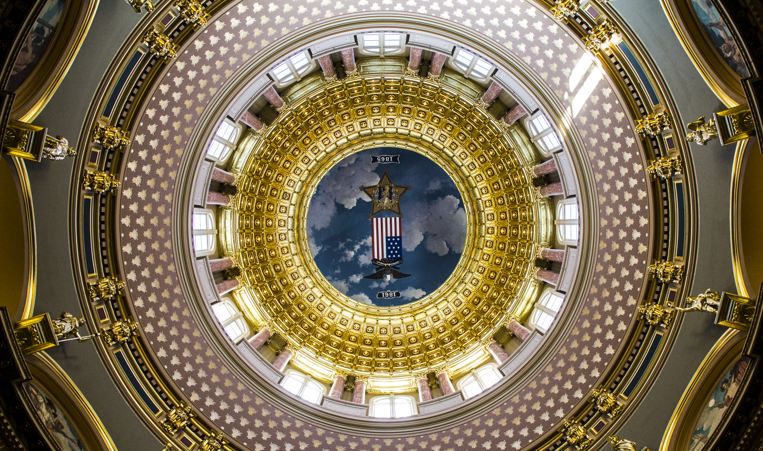 Iowa State Capitol, looking up into the dome