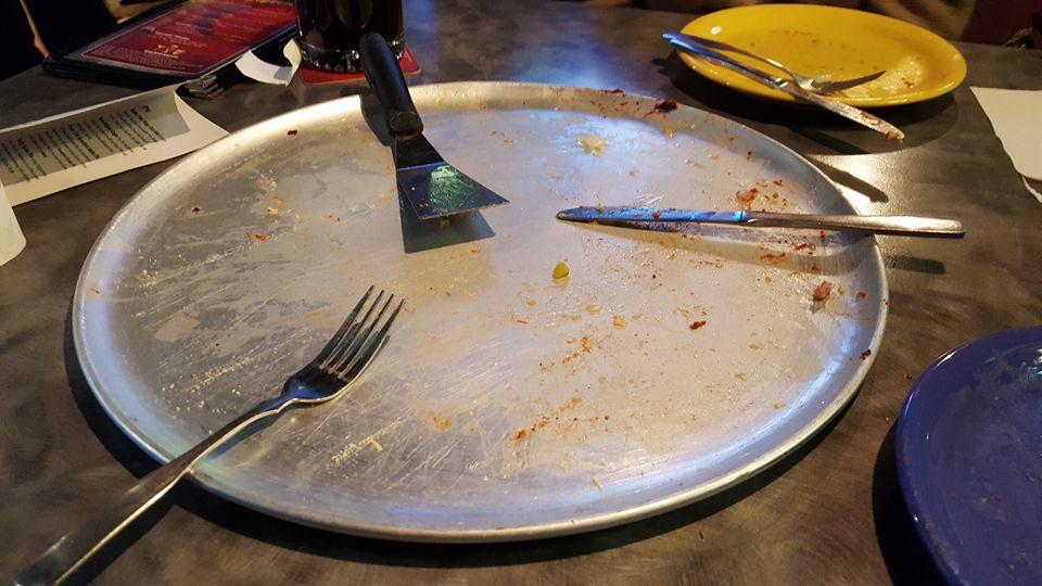 pizza gone, Doughy Joey's, Cedar Falls, Iowa