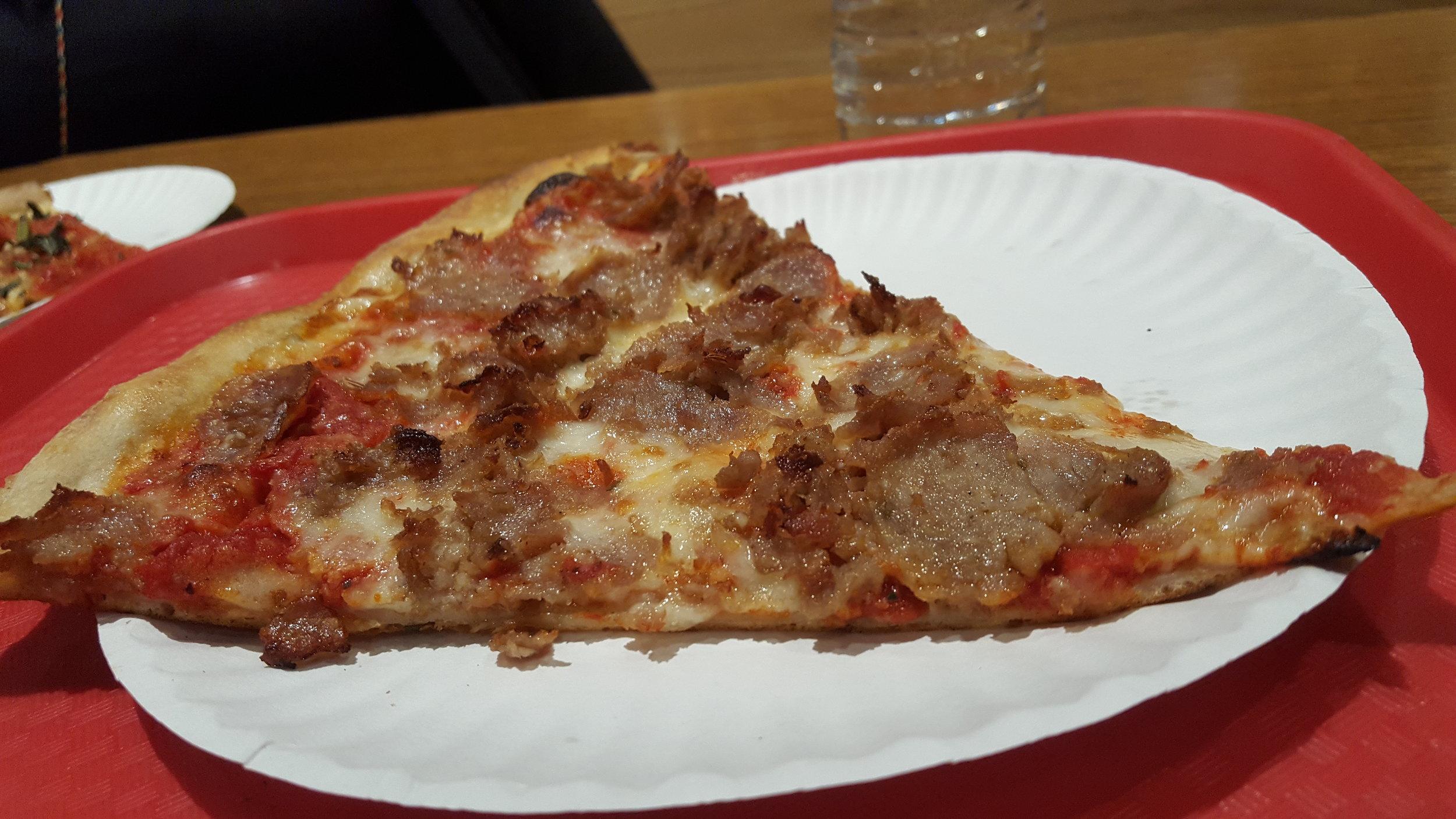 sausage slice @ NY Pizza Supremo, NYC