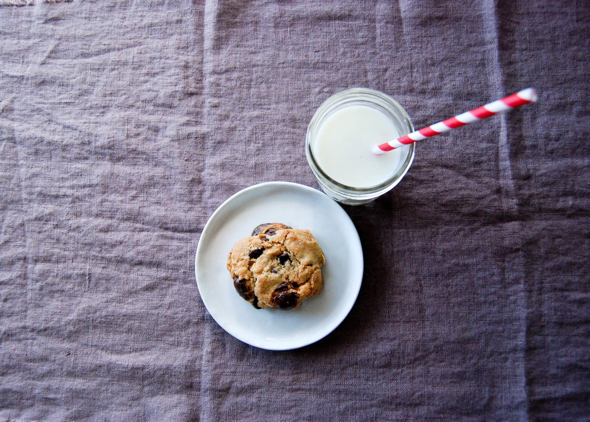 Chocolate Chip Cookie With Milk