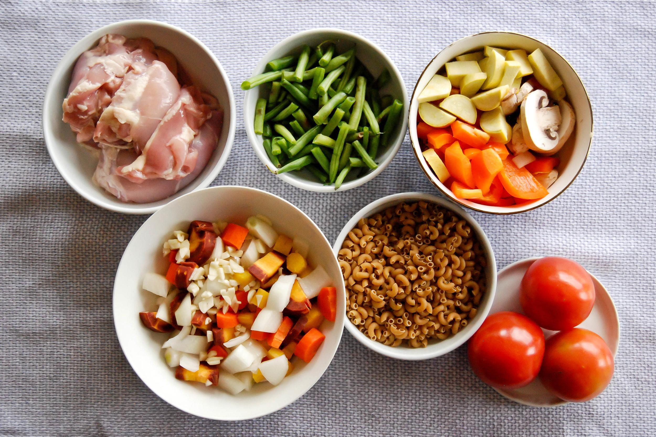 Chicken Minestrone Ingredients