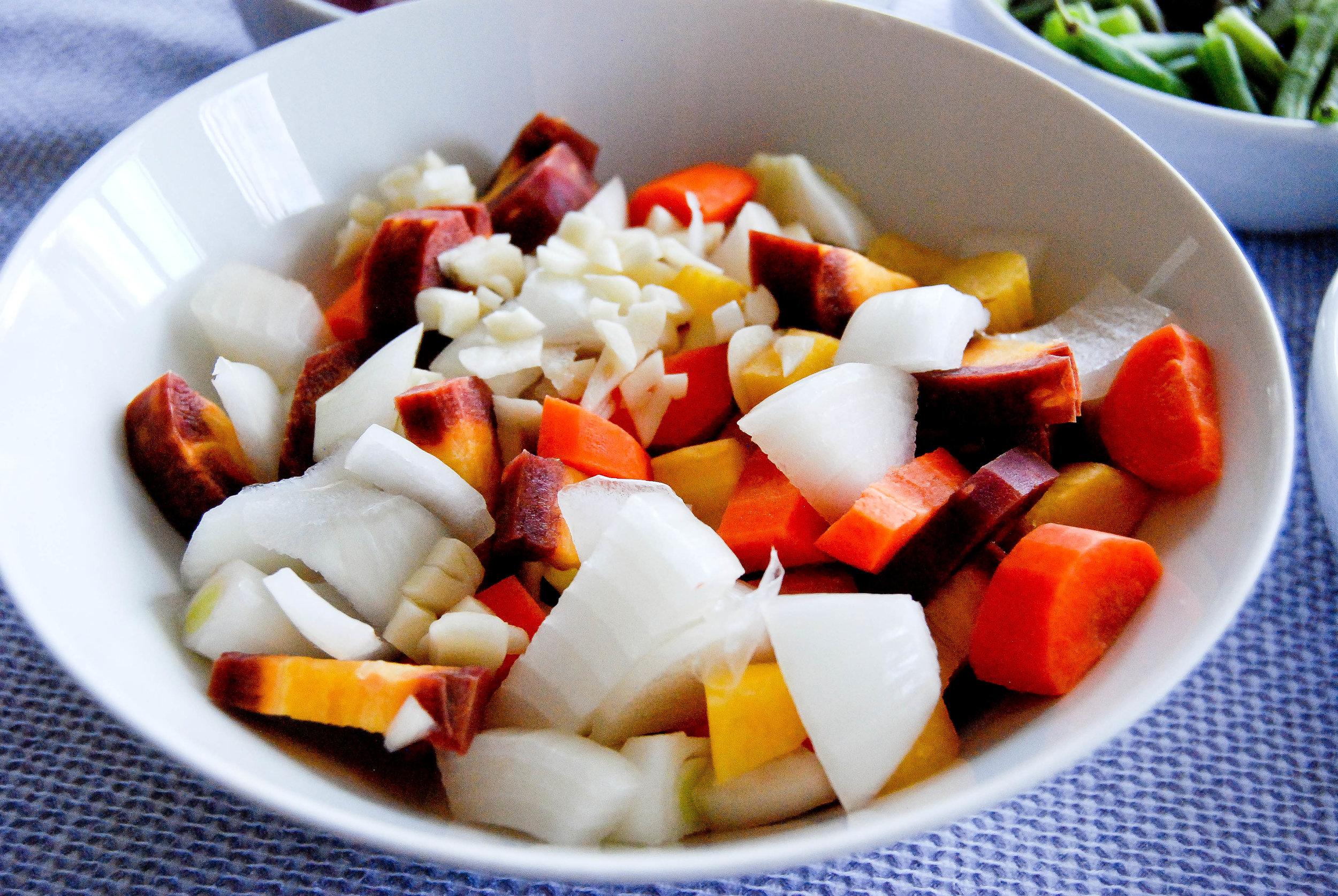Onion Carrots Mushrooms
