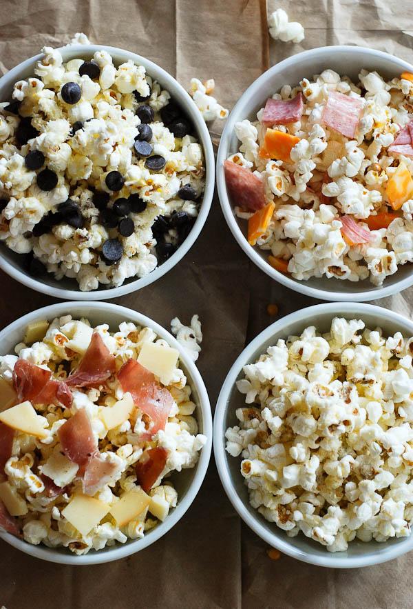 Popcorn For Dinner - 4 Ways