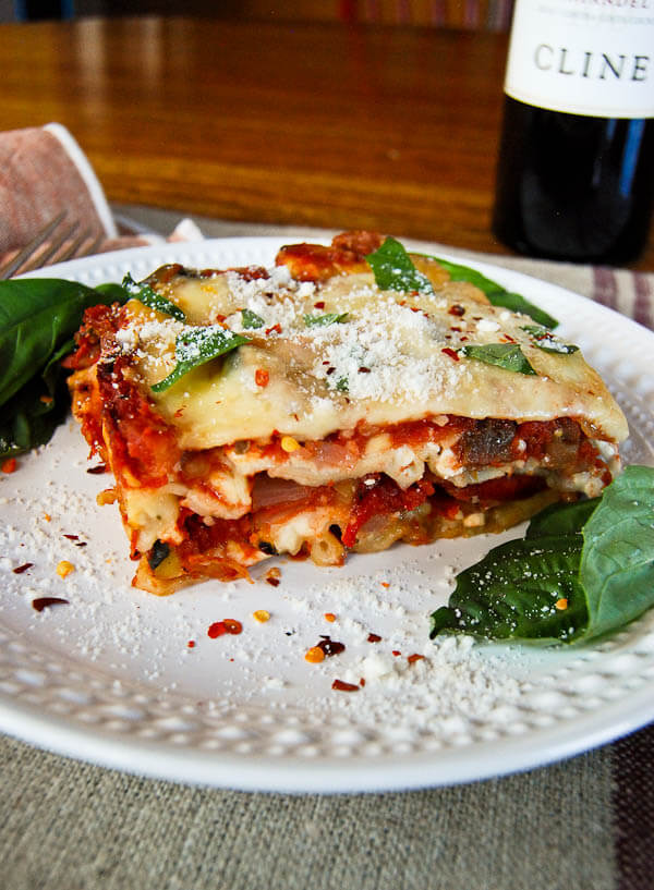 Easy Veggie Lasagna With Roasted Eggplant And Zucchini