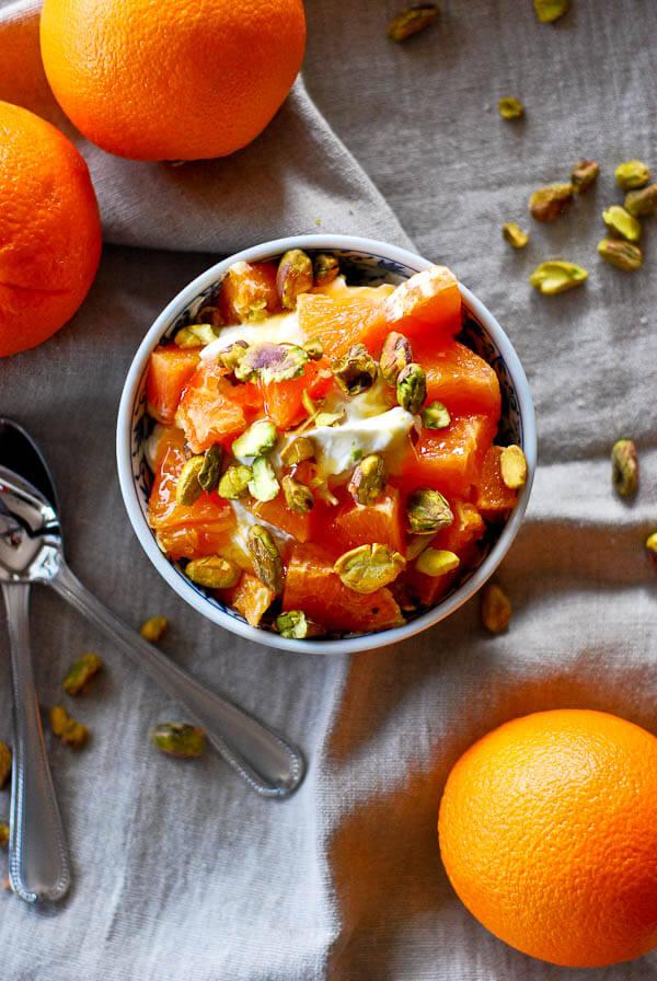 Whipped Creme Fraiche, Citrus, And Pistachio Parfait
