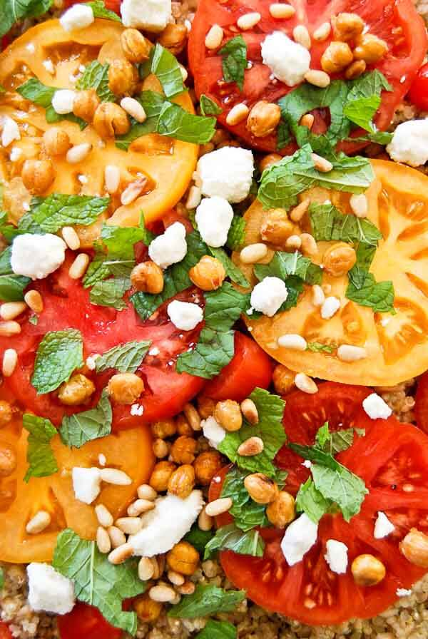 Tomato And Grain Salad With Mint And Feta