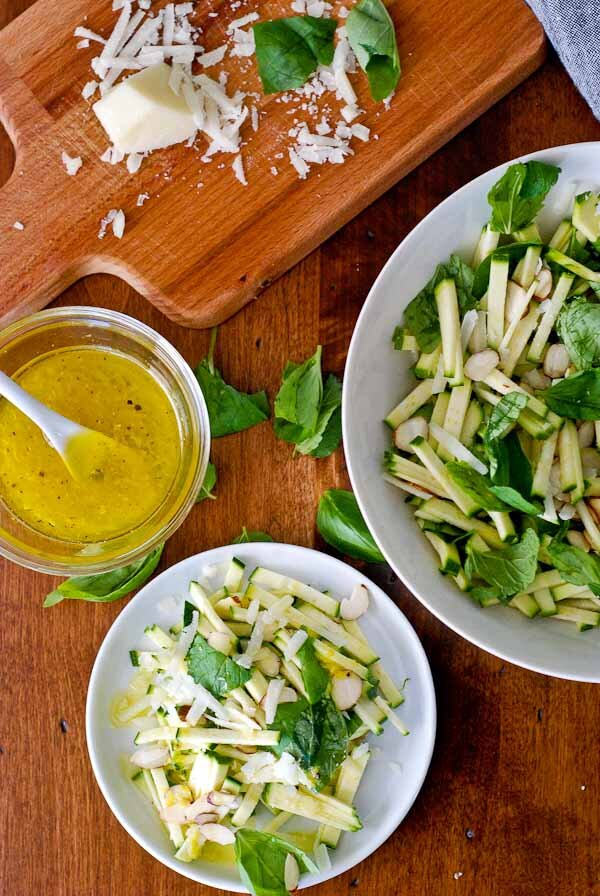 Chopped Zucchini Salad With Parmesan And Herbs