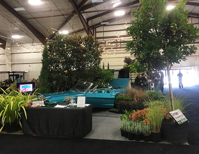 Come check out our #vintage themed booth at the Canwest show!  We are here today and tomorrow at Booth 825 🌳 • • • #plants #plantatree #picoftheday #tradeshowbooth #pretty #visit #blue #cars #dinesennursery #tradex #pretty #tradeshow