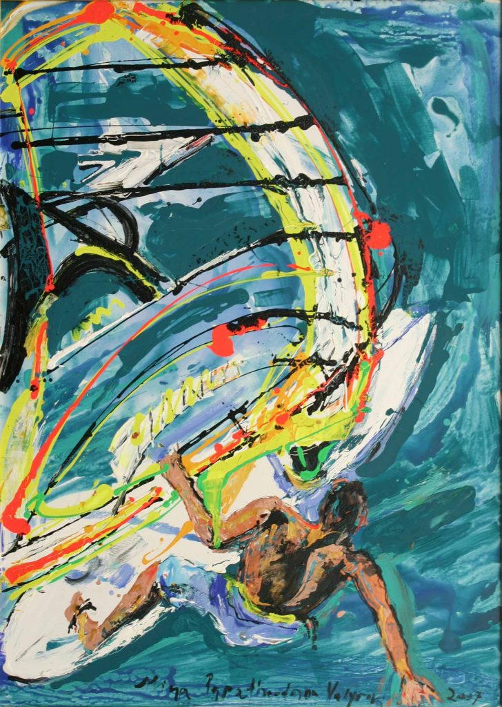 Windsurfing Gone with the Wind by Mina Valyraki