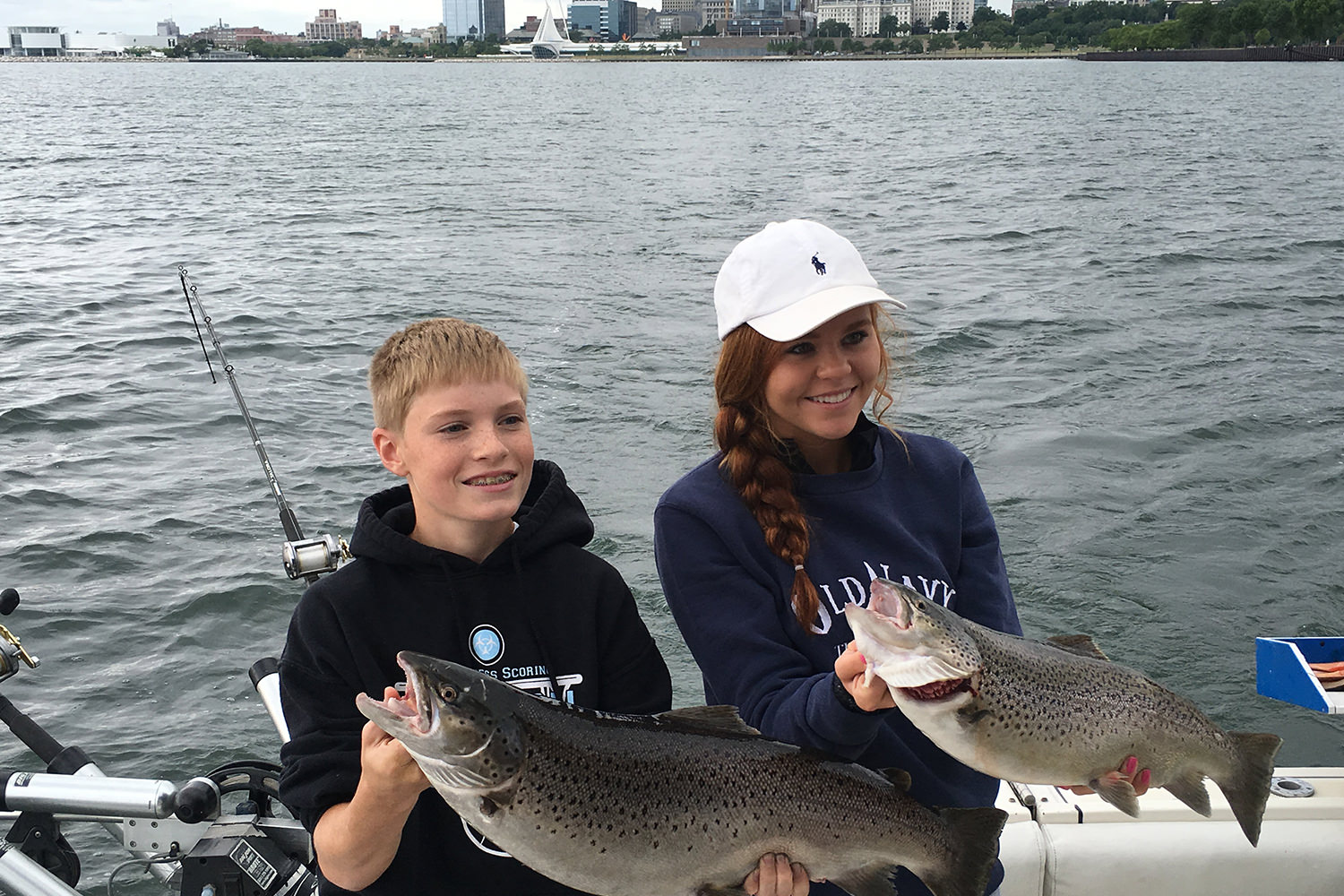 Late Summer Lake Michigan Brown Trout Milwaukee Wisconsin