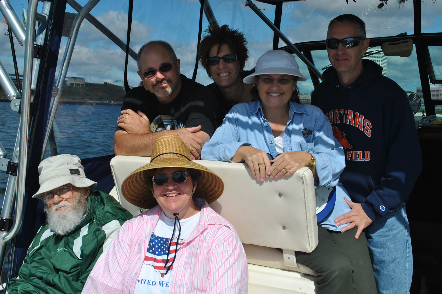 Roberta and Family on a Milwaukee Fishing Charter