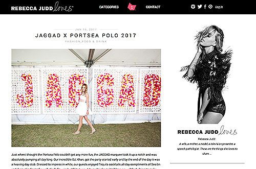 Rebecca Judd Loves JAGGAD x Portsea Polo 2017
