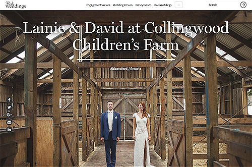 Real Weddings Lainie & David at Collingwood Children's Farm