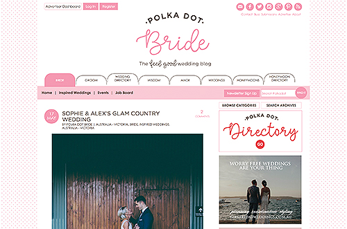 Polka Dot Bride Sophie & Alex's glam country wedding