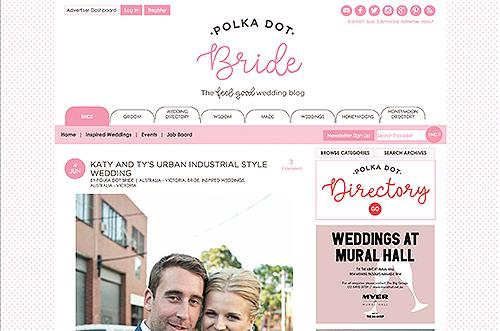 Polka Dot Bride Katy & Ty's urban industrial style wedding