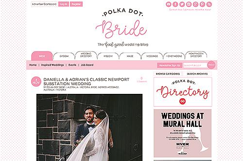 Polka Dot Bride Daniella & Adrian's classic Newport Substation wedding