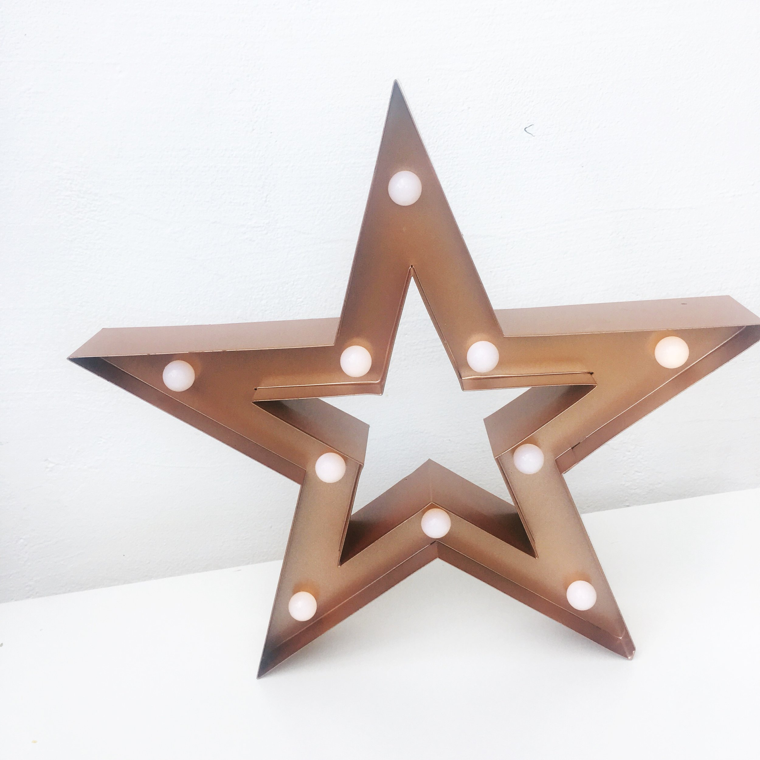 Star battery powered small marquee light. Two available. £8 each to hire