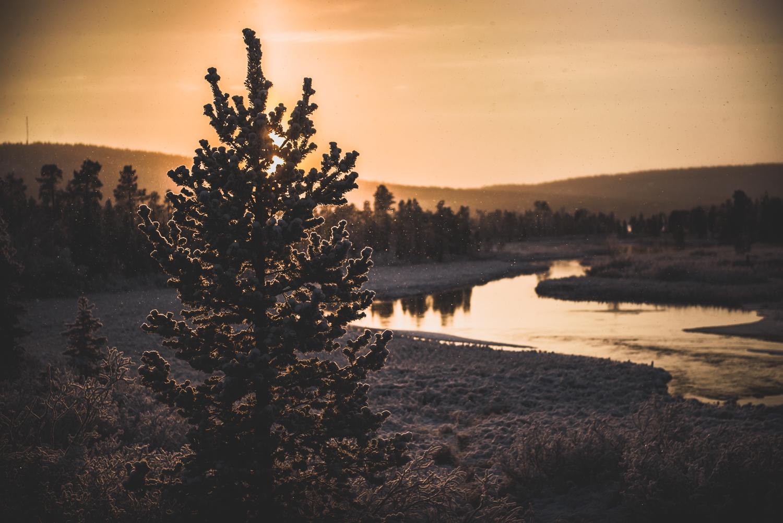10.12.2016. Lapzemes ainavas. Kiruna, Sweden.