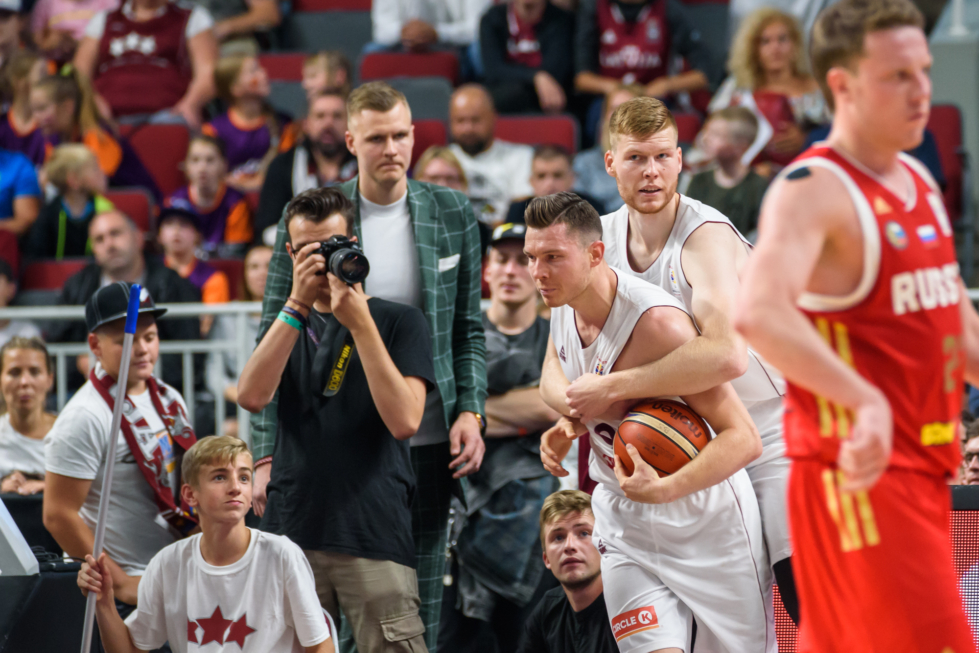 25.06.2018. RIGA, LATVIA. National men's basketball team of Latvia and National men's basketball team of Russia.