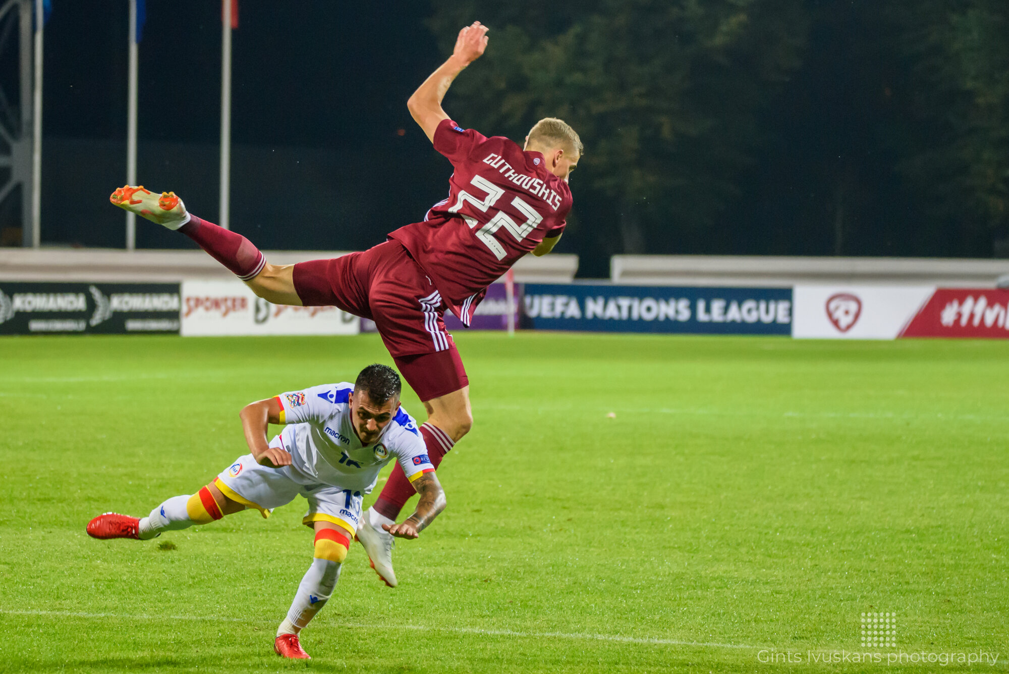 06.09.2018. RIGA, LATVIA. UEFA NATIONS LEAGUE game between National football team Latvia and National football team Andorra