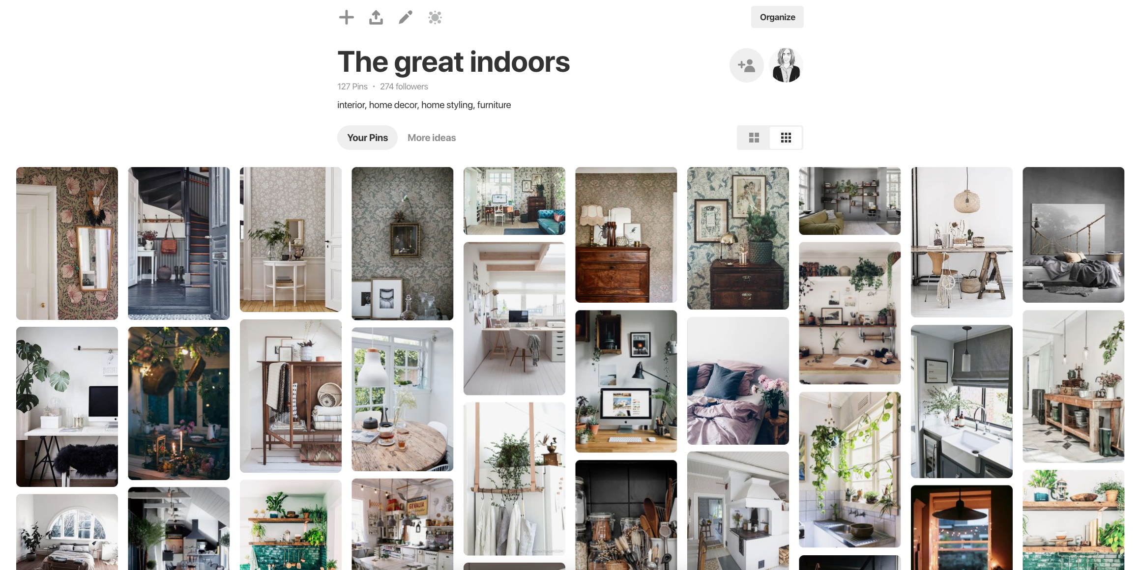 Inredningsinspiration på Pinterest