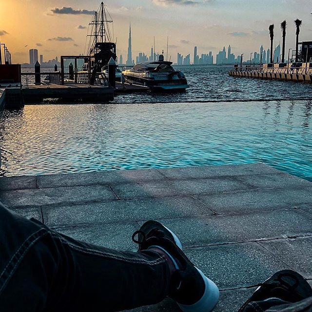 Front-raw seat to the most dazzling view in town! #RiseDubaiCreekHarbour 📷: @lifeofmansoor