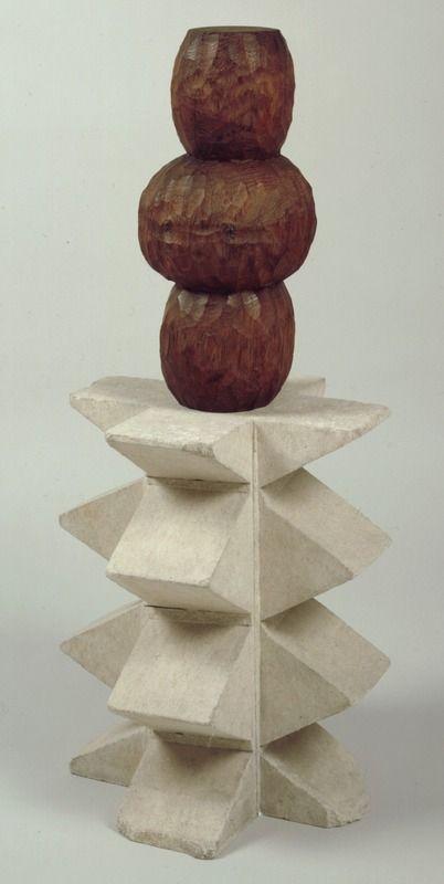 Constantin Brancusi (1876 - 1957) Plante exotique 1923 - 1924 Bois (chêne) 96 x 43 x 43 cm
