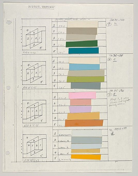Josef Albers  Untitled (for Never Before, h,c,f,d), ca. 1976